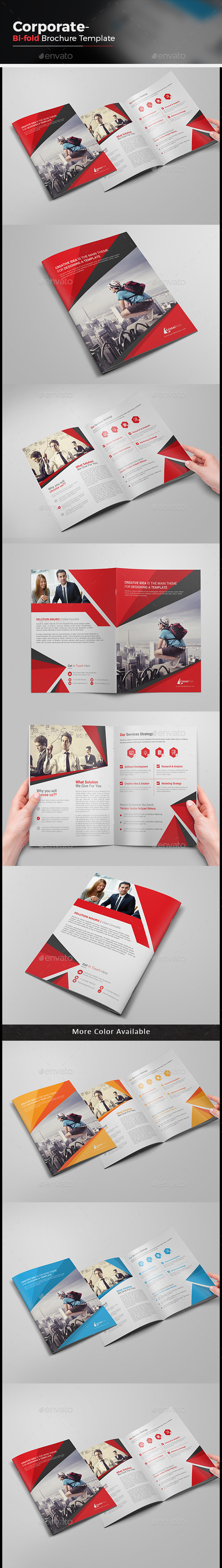Business Bi-fold Brochure-Multipurpose - Corporate Brochures