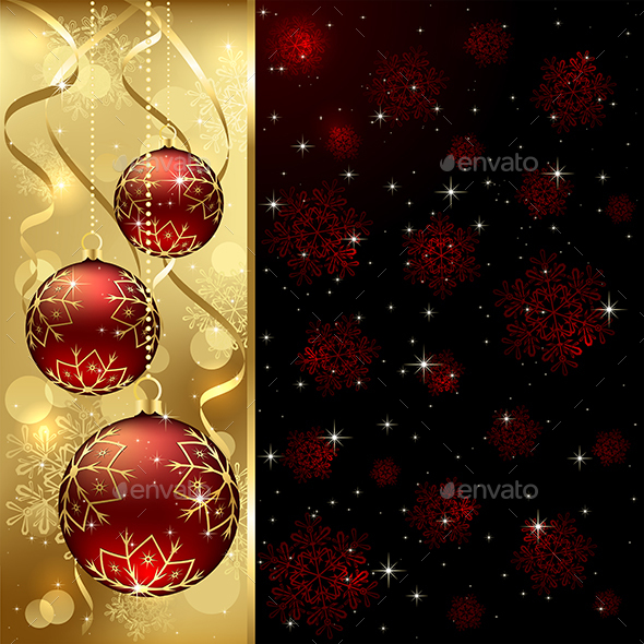 Red Christmas Balls - Christmas Seasons/Holidays