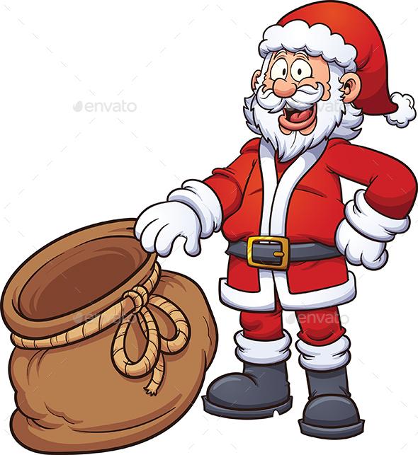 Santa Claus with Bag - Christmas Seasons/Holidays