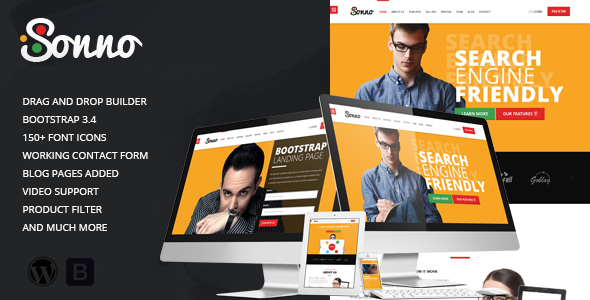 Sonno – Startup Marketing Landing Page WP Theme