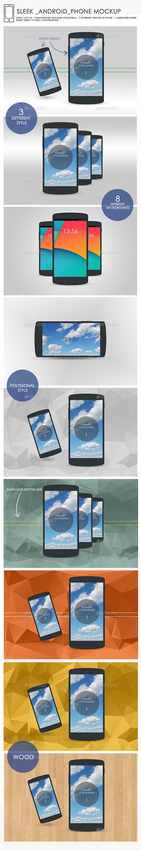 Sleek Android Phone Mockup - Mobile Displays