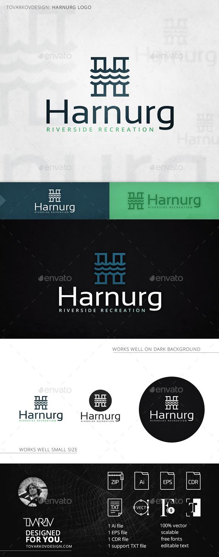 Harnurg Letter H Logo Template - Letters Logo Templates
