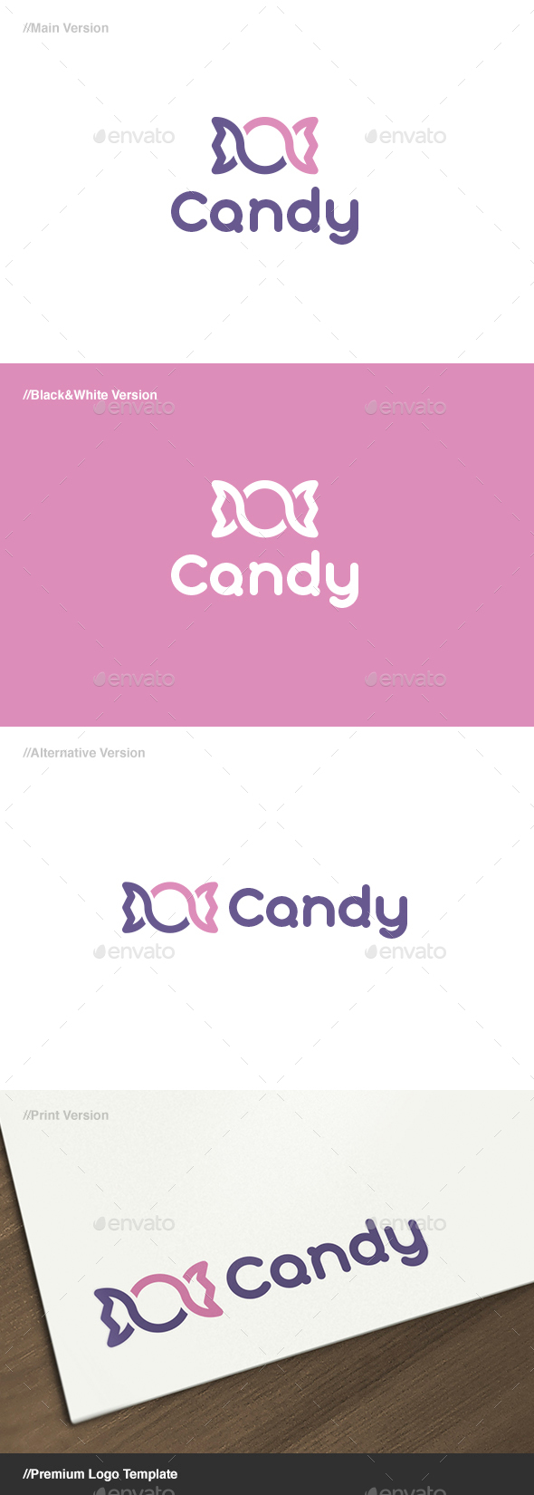 Candy Logo - Food Logo Templates
