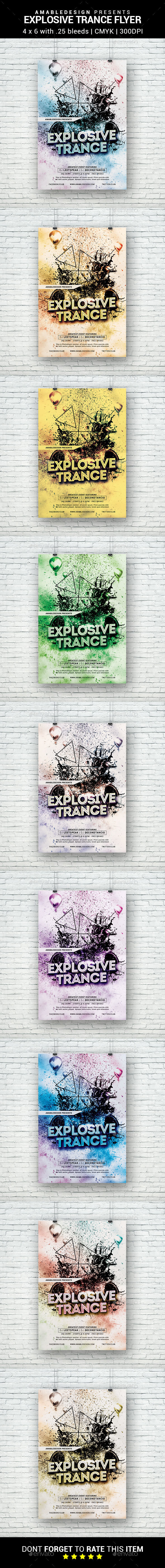 Explosive Trance Flyer - Clubs & Parties Events