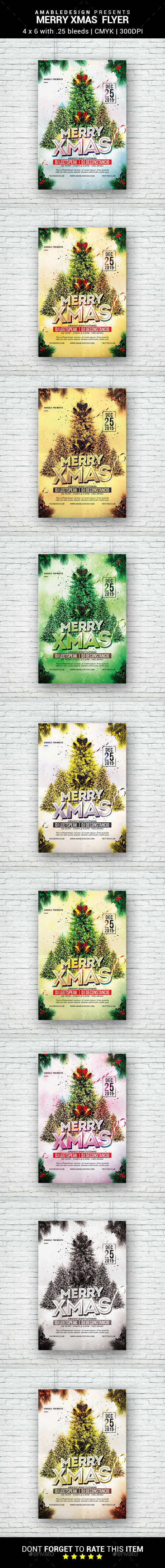 Merry Xmas Flyer - Clubs & Parties Events