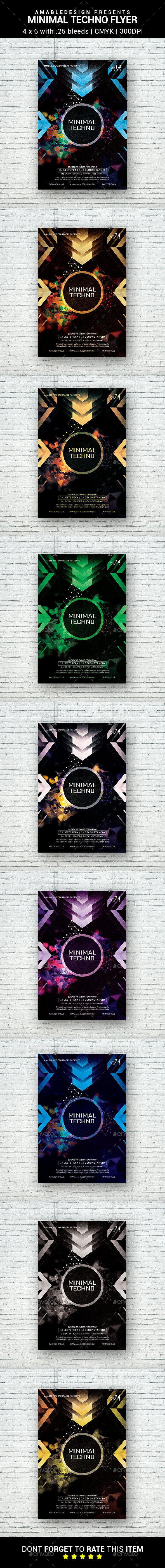 Minimal Techno Flyer - Clubs & Parties Events