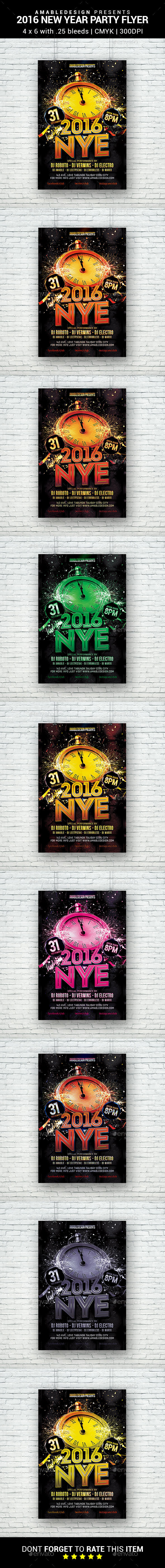 2016 New Year Eve Flyer - Clubs & Parties Events