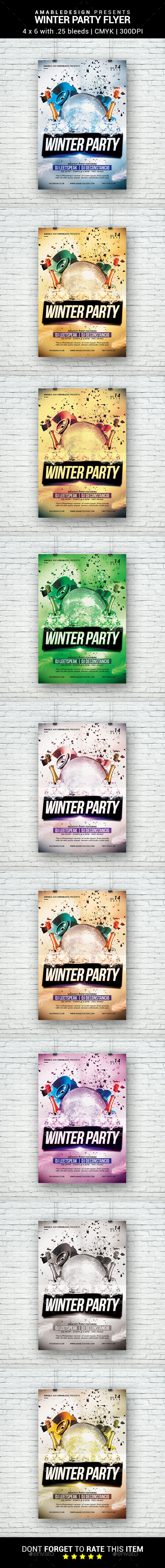 Winter Party Flyer - Holidays Events