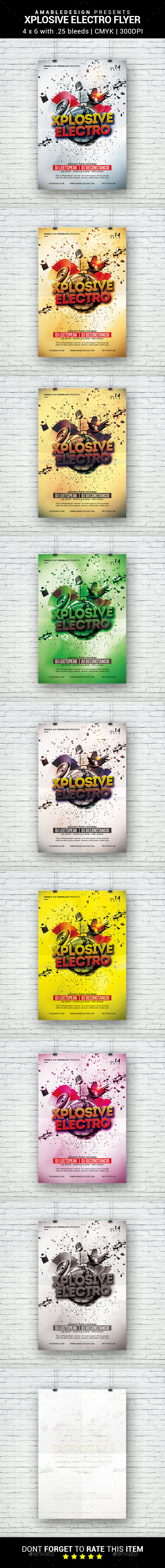 Xplosive Electro Flyer - Clubs & Parties Events
