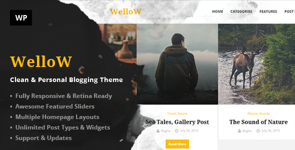 Wellow – Clean & Personal Blogging Theme - Personal Blog / Magazine