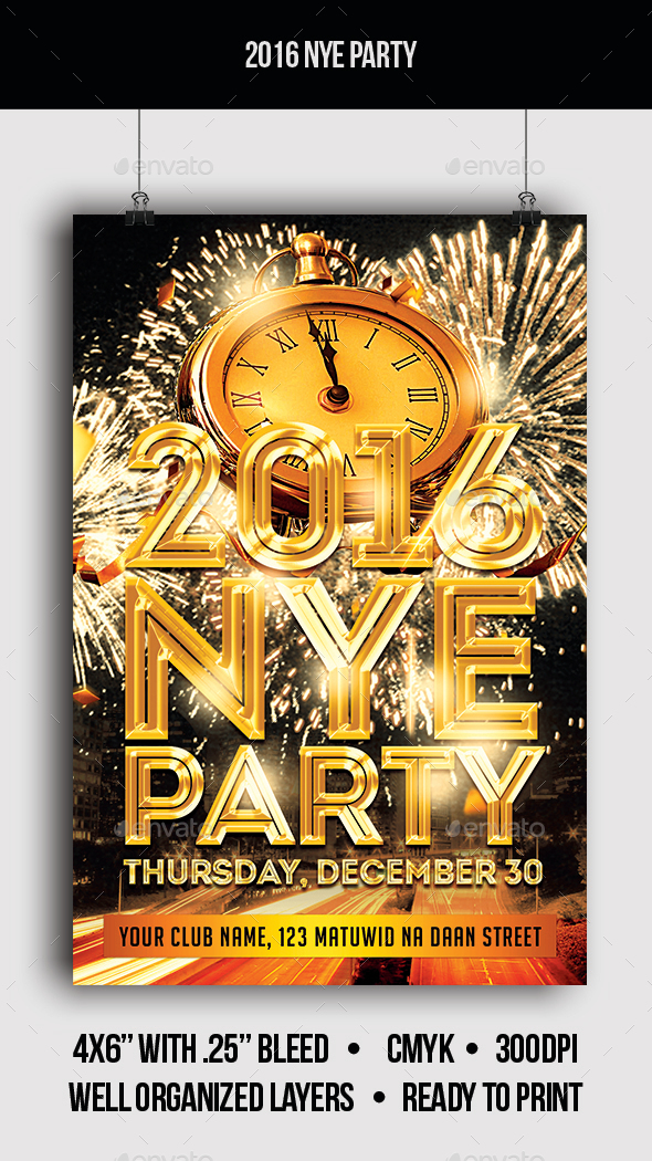 2016 New Year Party - Flyer - Clubs & Parties Events