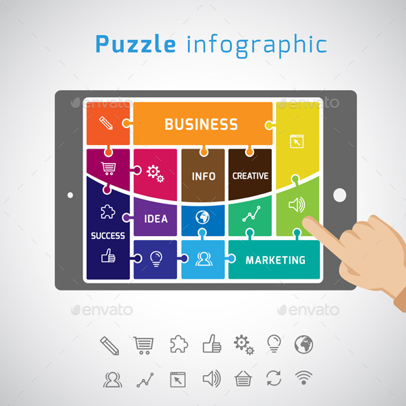 Puzzle Business Infographic - Infographics
