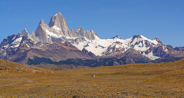 Mt Fitz Roy Panorama - Stock Photo - Images
