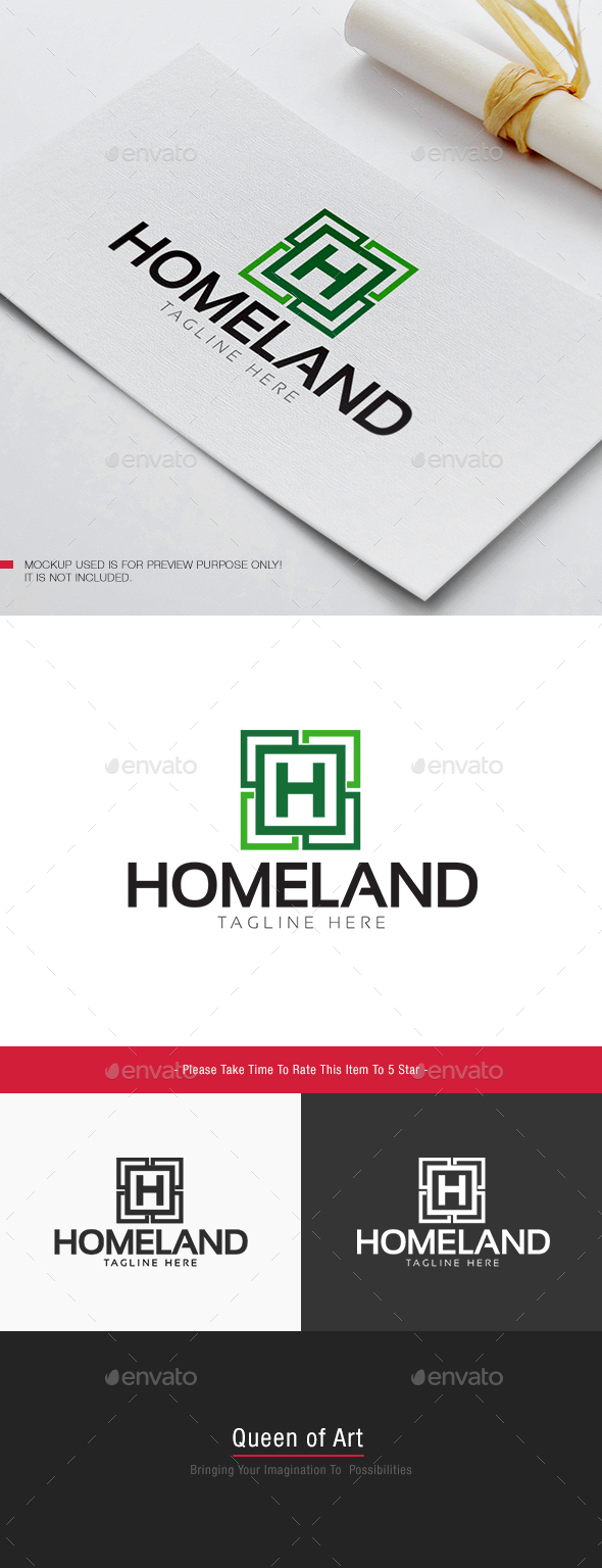 Home Land Logo - Letters Logo Templates