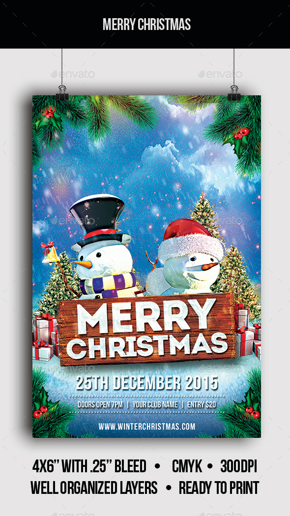 Merry Christmas - Flyer - Clubs & Parties Events