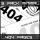5 Minimal 404 Error Designs - GraphicRiver Item for Sale