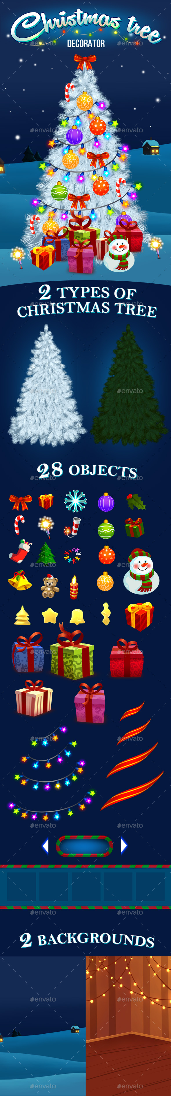 Christmas tree decorator kit - Game Kits Game Assets