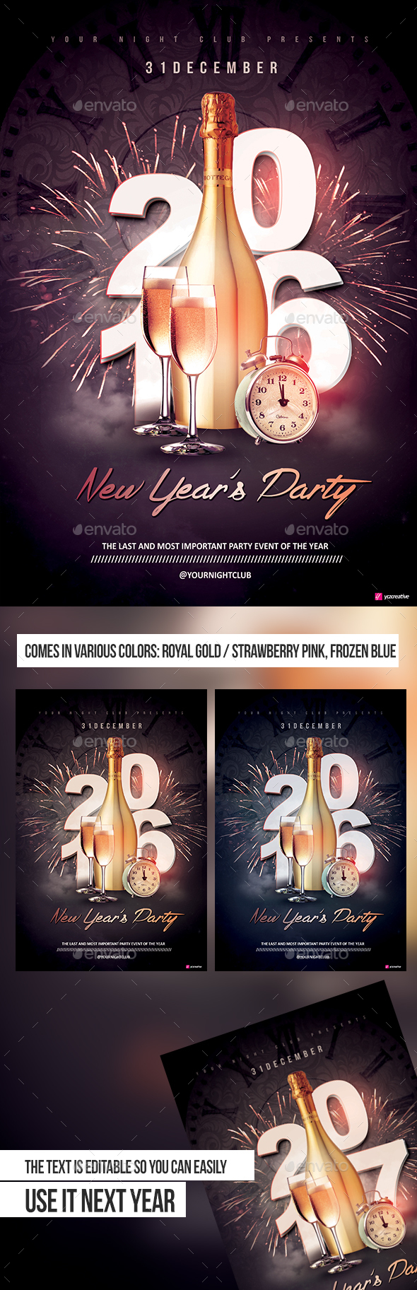 New Year's Party - Events Flyers