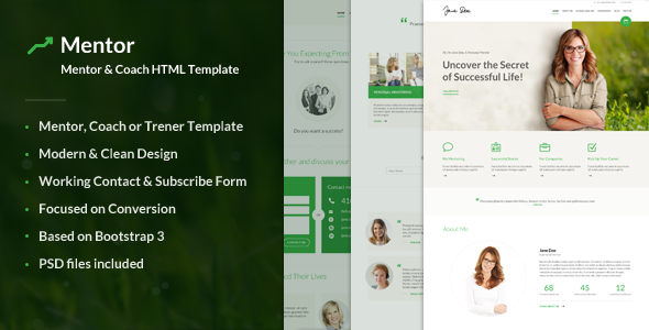 Mentor - Personal Development Coach HTML Template - Business Corporate