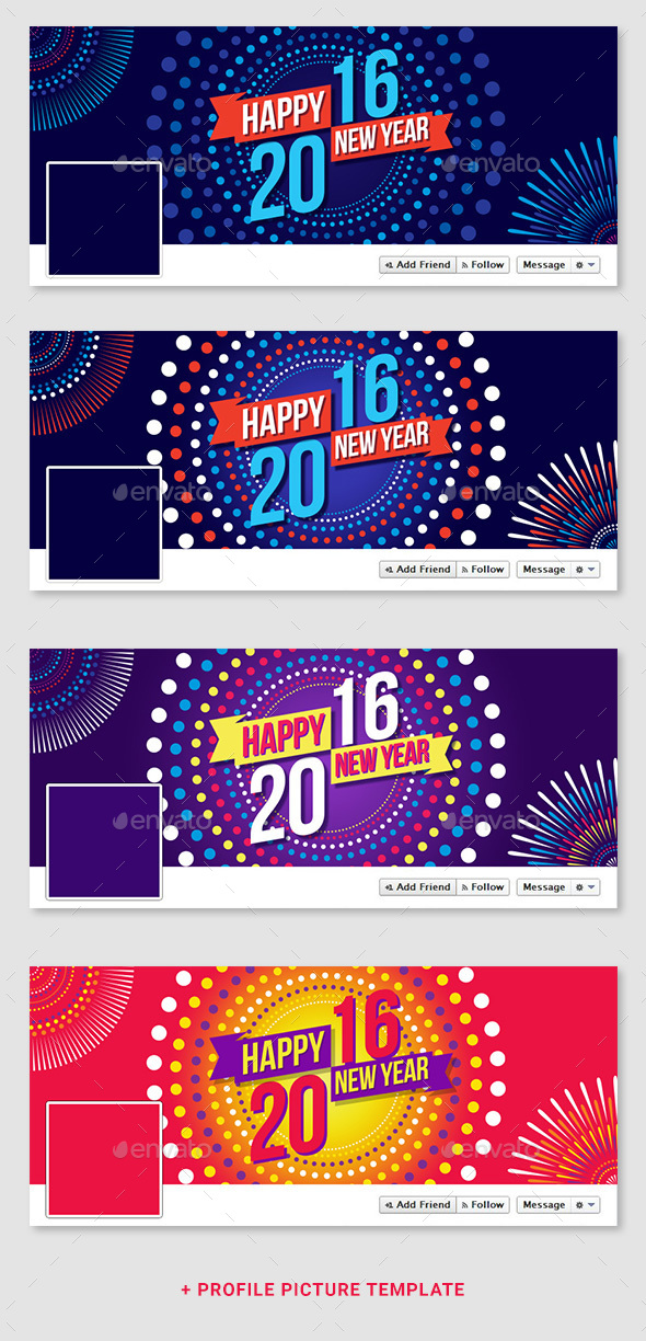 2016 New Year's Corporate Facebook Timeline - Facebook Timeline Covers Social Media
