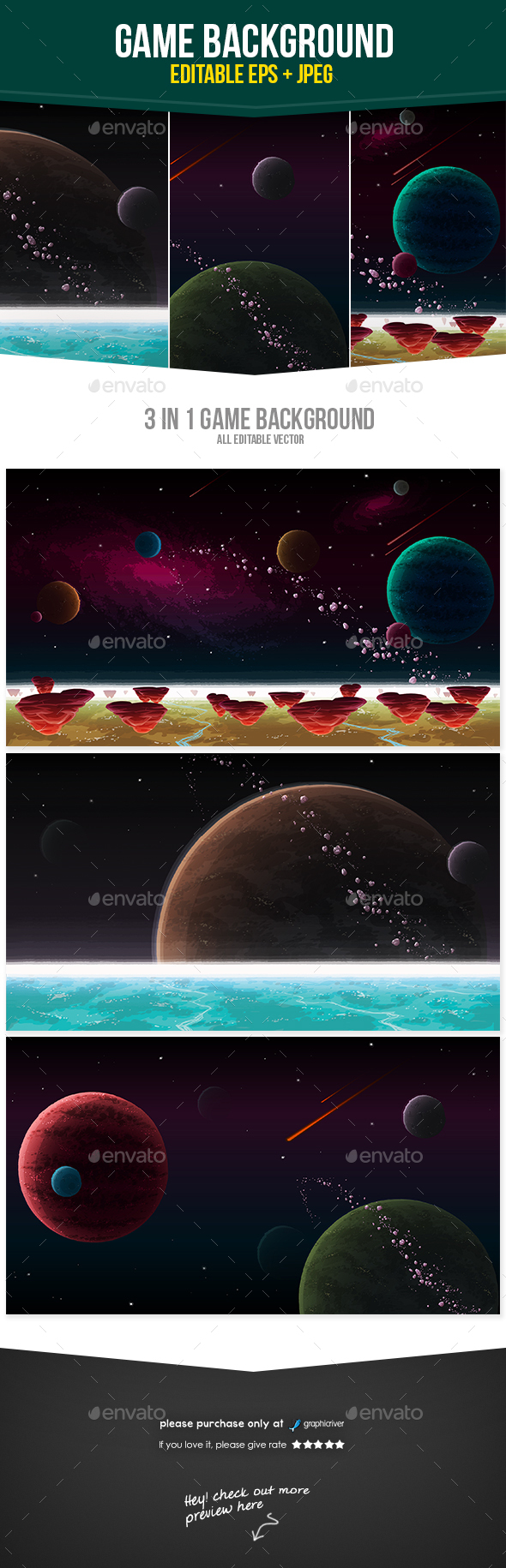Space Galaxy Game Background - Backgrounds Game Assets