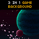 Space Galaxy Game Background - GraphicRiver Item for Sale