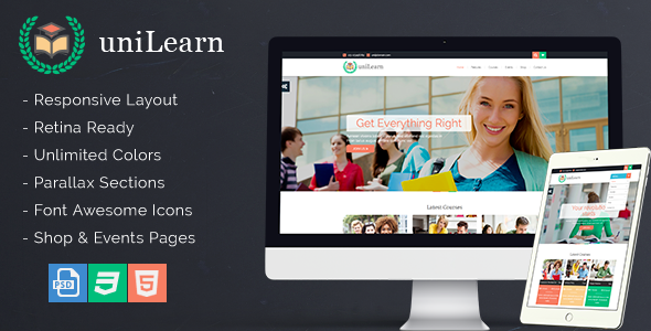 UniLearn – Education and Courses Template