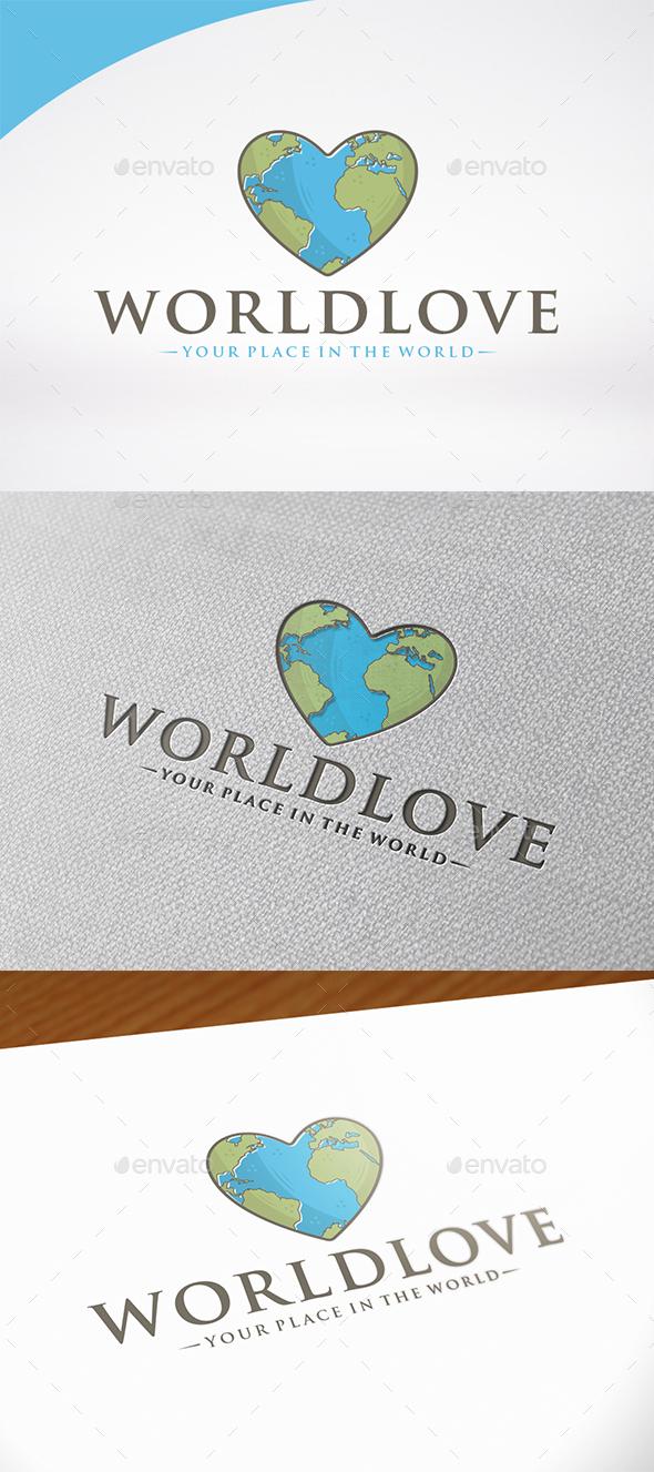 World Love Logo Template - Nature Logo Templates