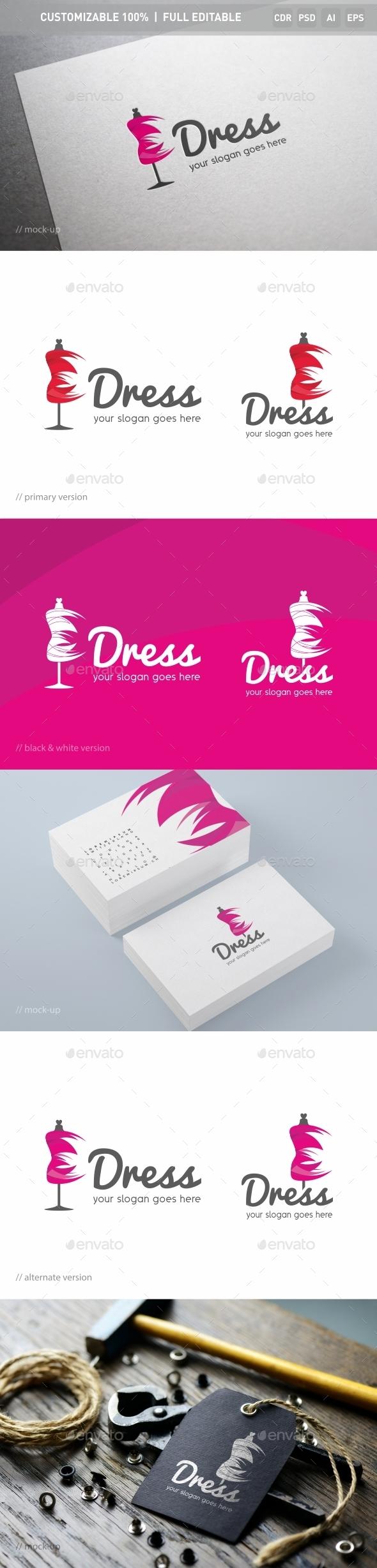 Dress Logo Template - Objects Logo Templates