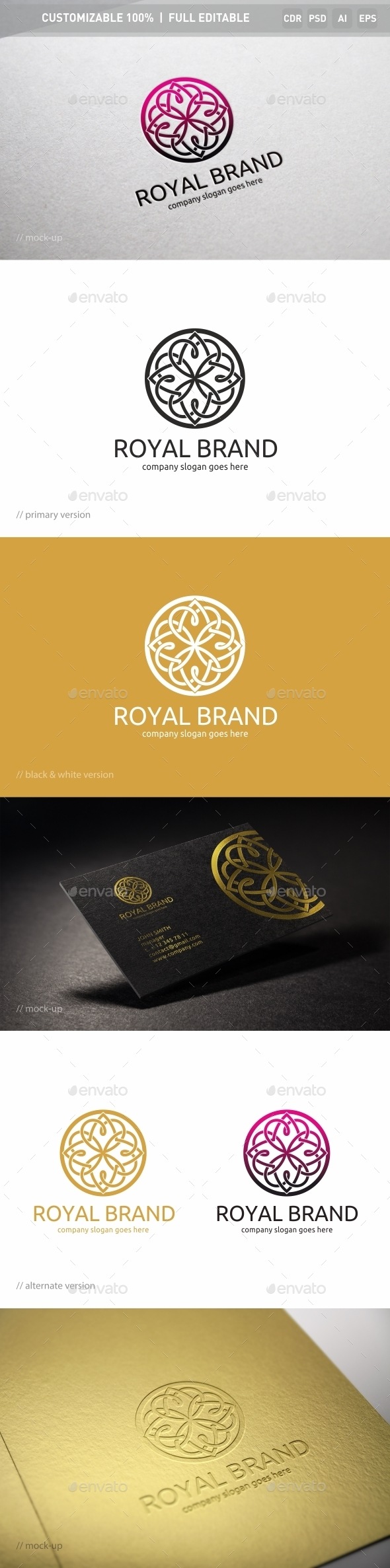 Royal Brand Logo Template - Objects Logo Templates