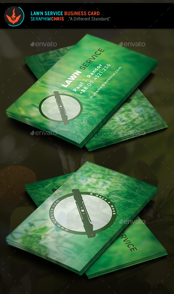 lawn service business card template industry specific business cards - Lawn Service Business Cards