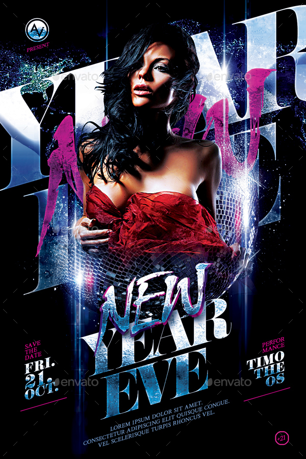 New Year Flyer Bundle Vol36 8 in 1 by amorjesu – New Year Brochure Template