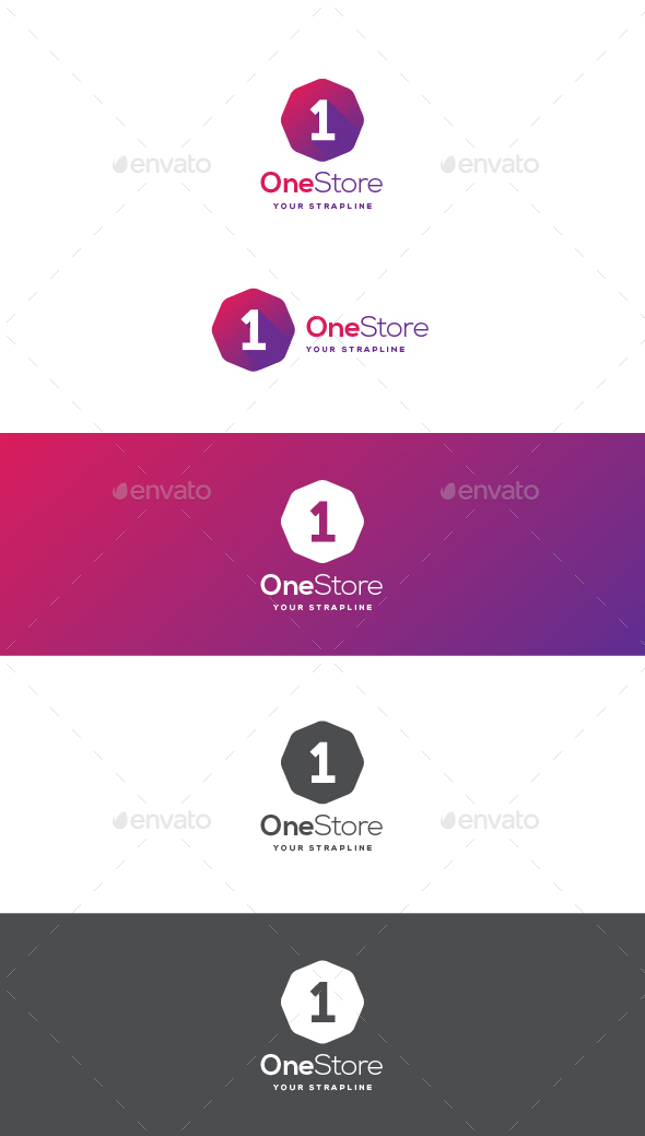 One Store Logo - Numbers Logo Templates
