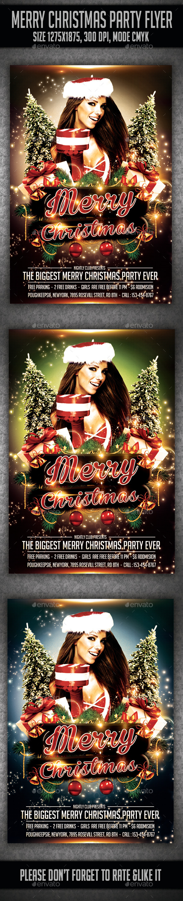 Merry Christmas Party Flyer - Events Flyers