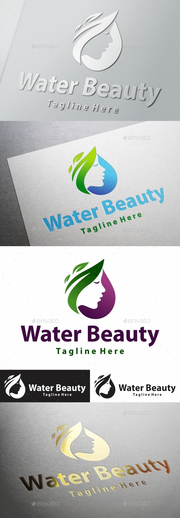 Water Beauty  - Nature Logo Templates