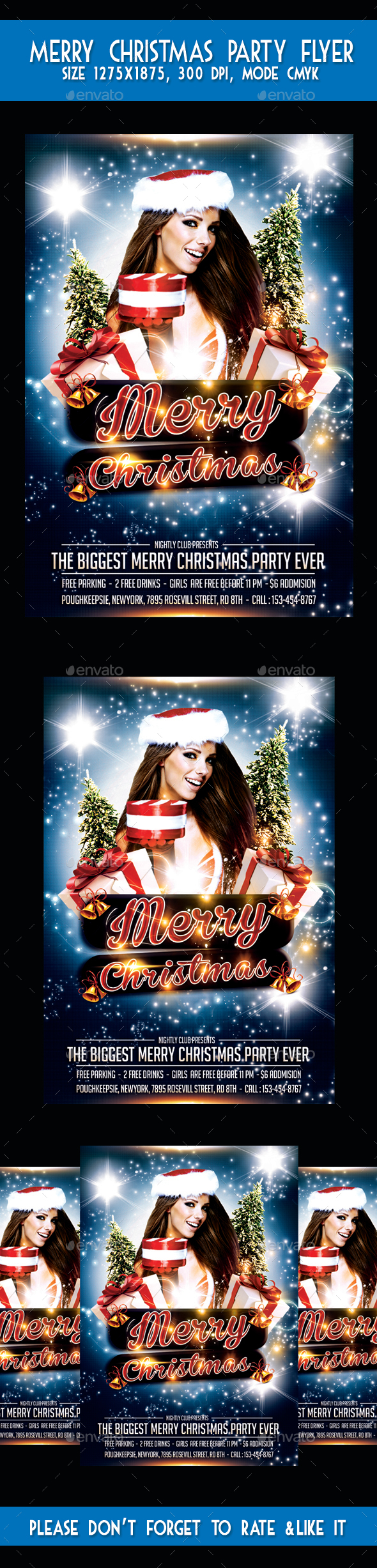 Merry Christmas Party Flyer - Flyers Print Templates