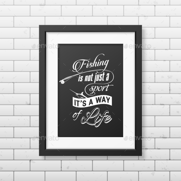 Quote Typographical Background In The Black Frame  - Food Objects