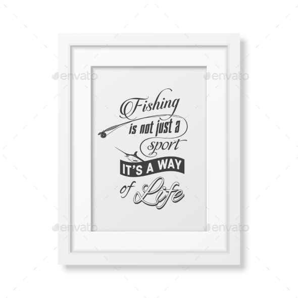 Quote Typographical Background In The White Frame  - Food Objects