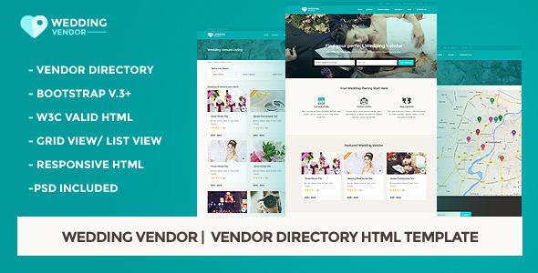 Wedding Vendor    Vendor Directory HTML Template