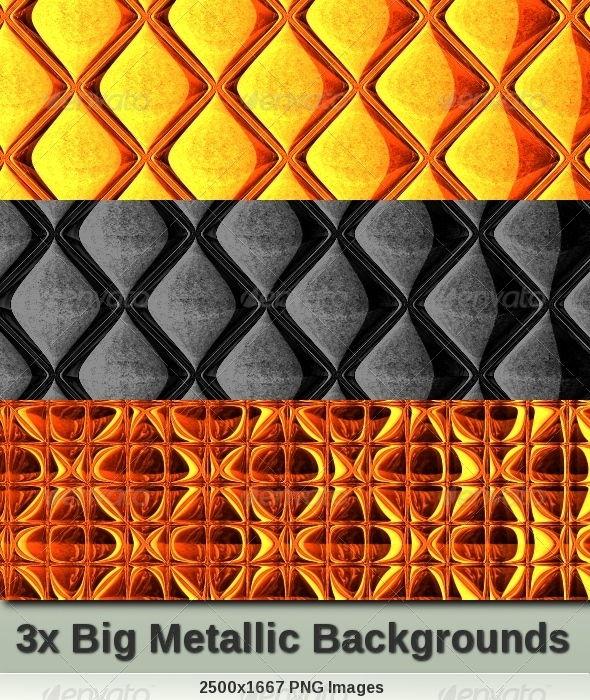 Metallic Backgrounds Set - Backgrounds Graphics