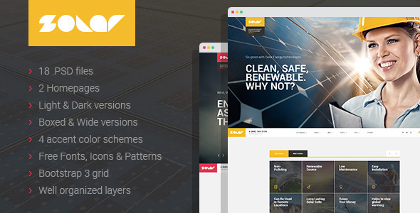 Solar - Renewable energy PSD template