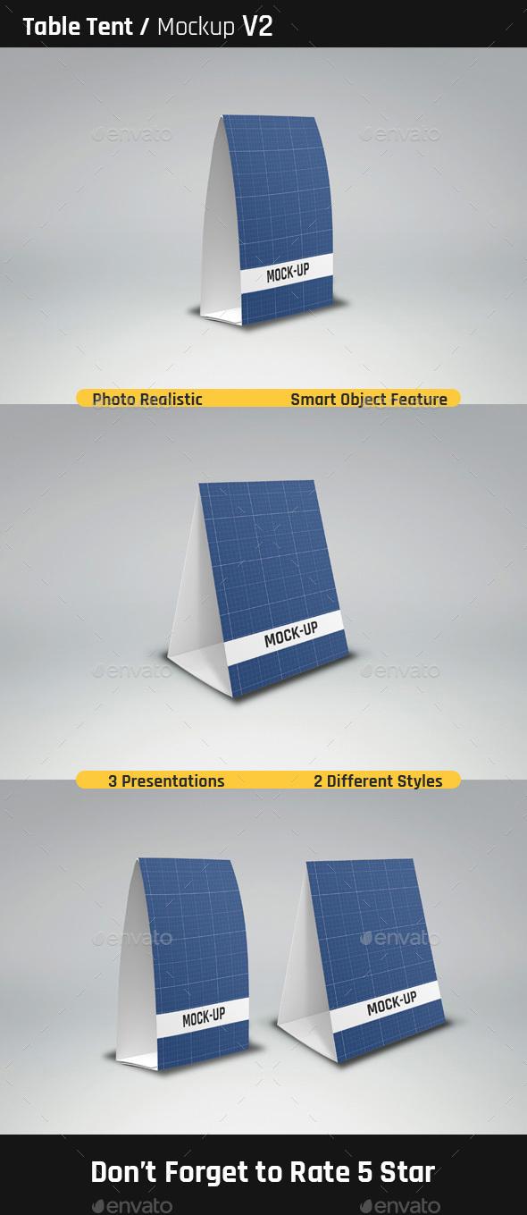 Table Tent Mock-Ups V2 - Miscellaneous Print