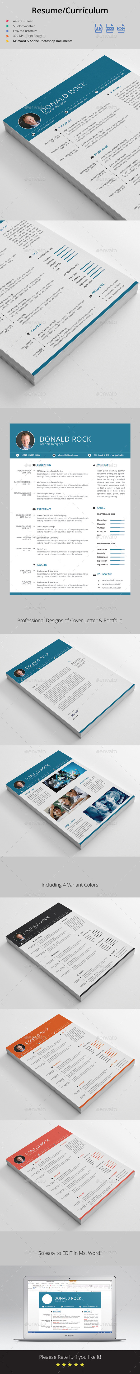 Resume / Currículum - Resumes Stationery