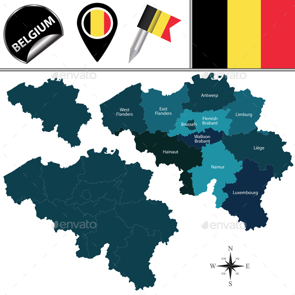 Map of Belgium - Travel Conceptual