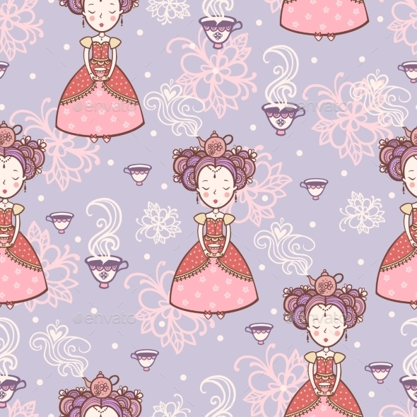 Tea Time. - Backgrounds Decorative