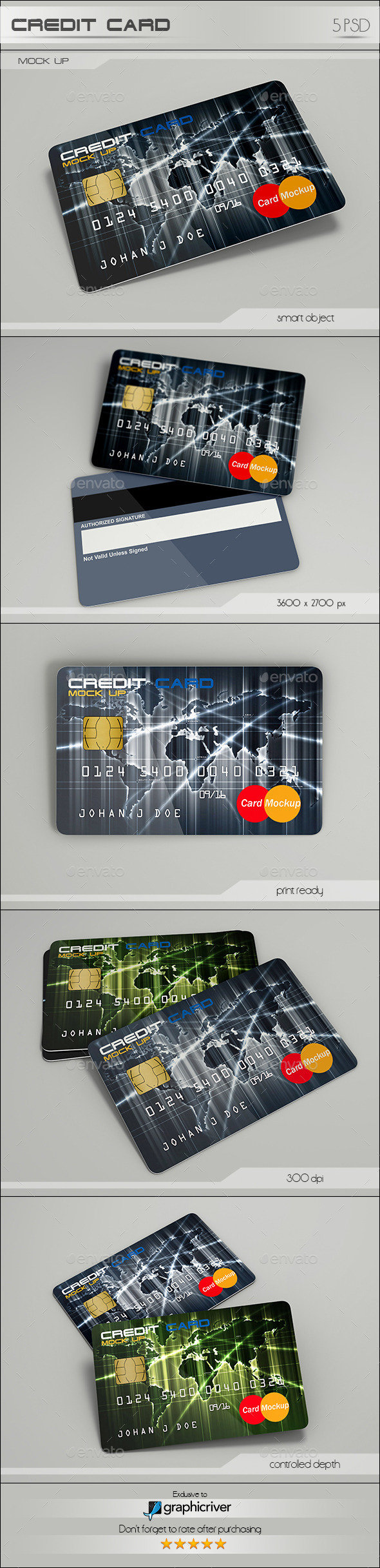 Credit Card - Product Mock-Ups Graphics