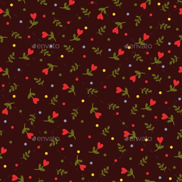Seamless Floral Background. - Flowers & Plants Nature