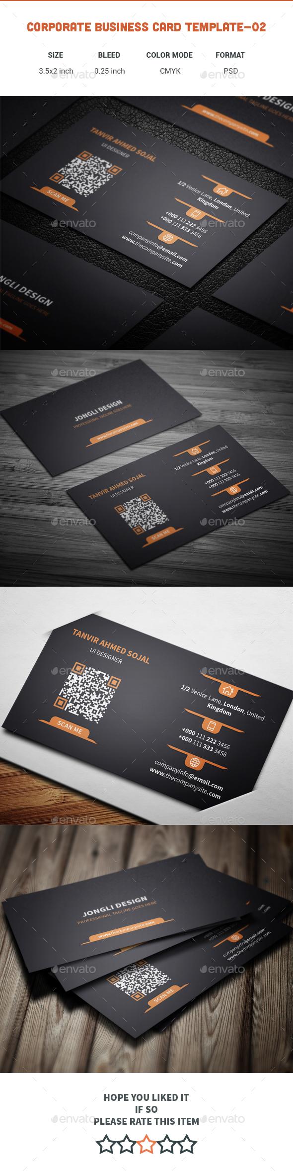 Corporate Business Card Template-02 - Corporate Business Cards