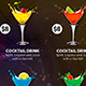 Drink Specials Menu & Business Card Template 1 - GraphicRiver Item for Sale