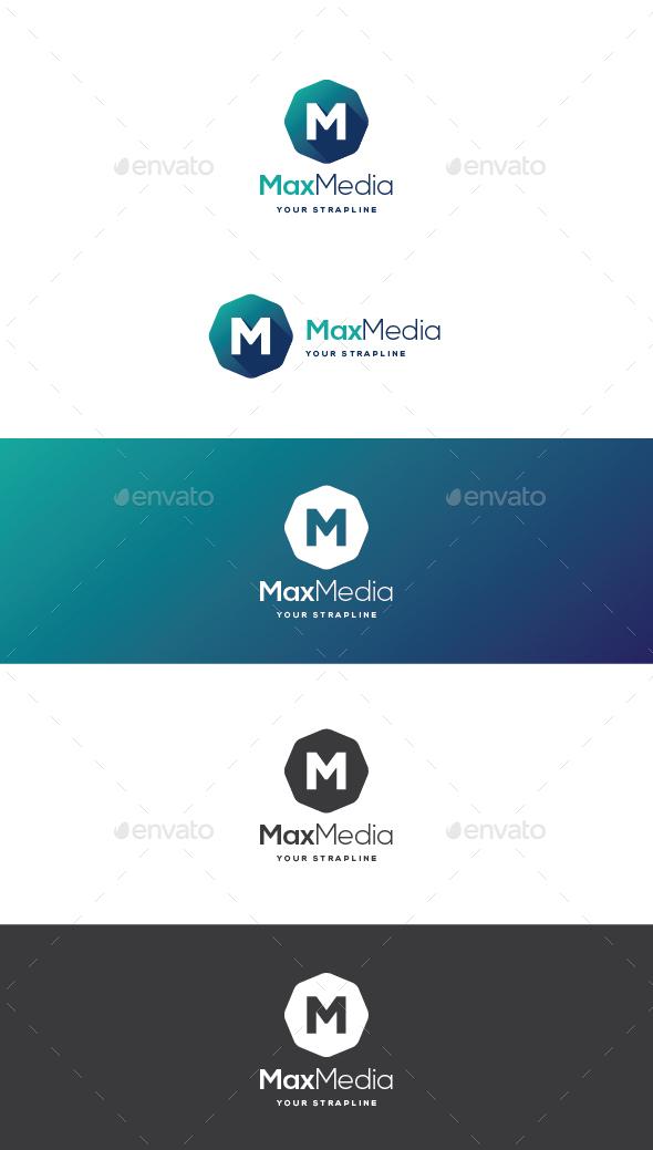 Max Media Letter M Logo - Letters Logo Templates